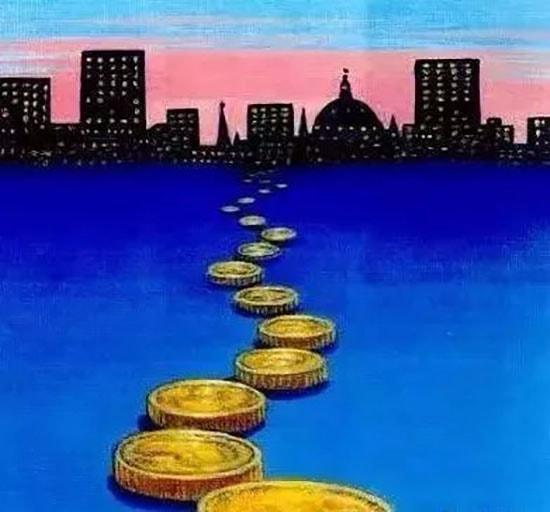 sendero de monedas