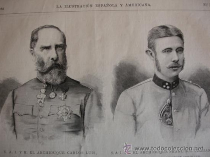 Archiduque Carlos Luis y Francisco Fernando de Austria