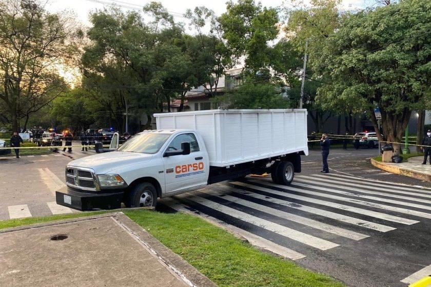 camioneta de Grupo Carso utilizada en atentado