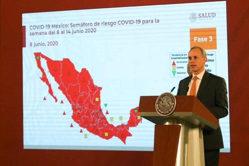 curva de contagios del covid-19 en México