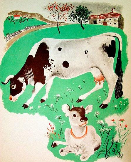 vaca y su becerro