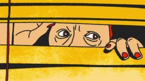 mujer asomada en ventana, nueva normalidad