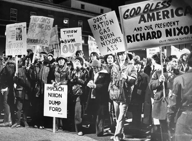 protestas del watergate