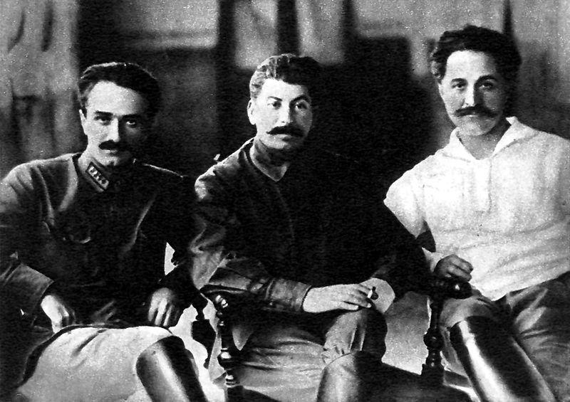 Mikoyan, Joseph Stalin and Sergo Ordzhonikidze-1925