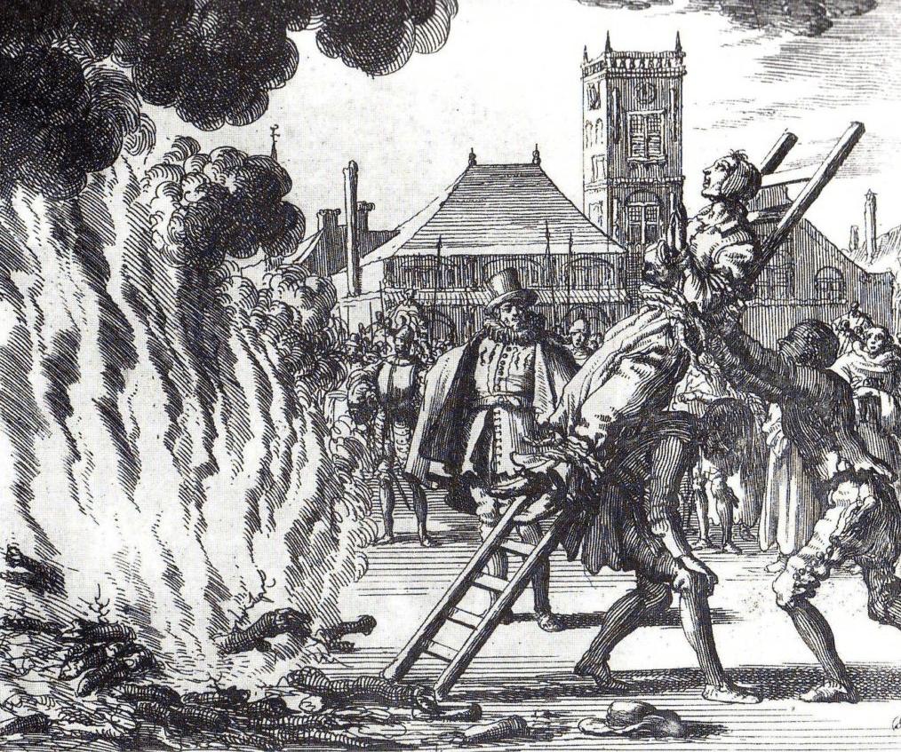 la ejecucion de una bruja en amsterdam,