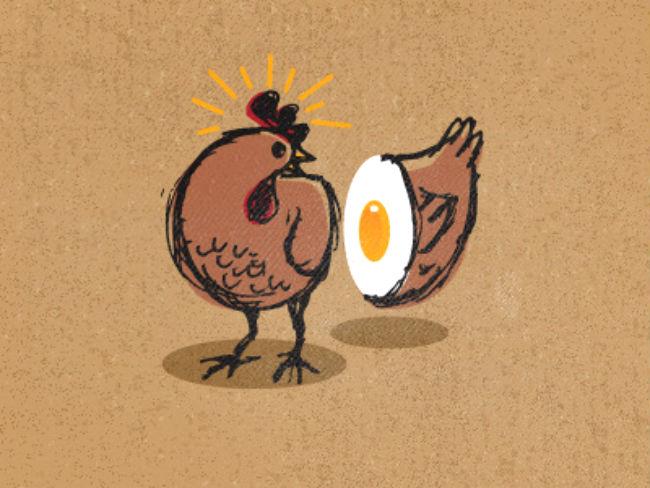 gallina o huevo