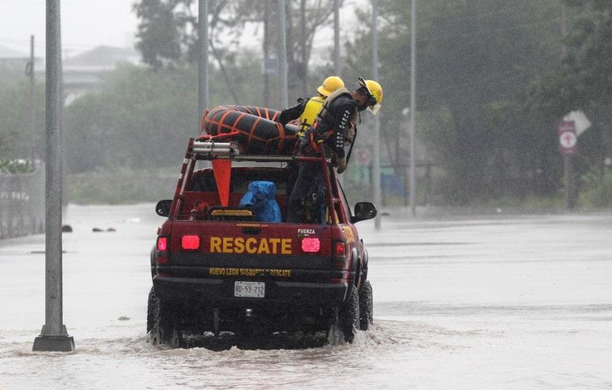 huracán Hanna por México