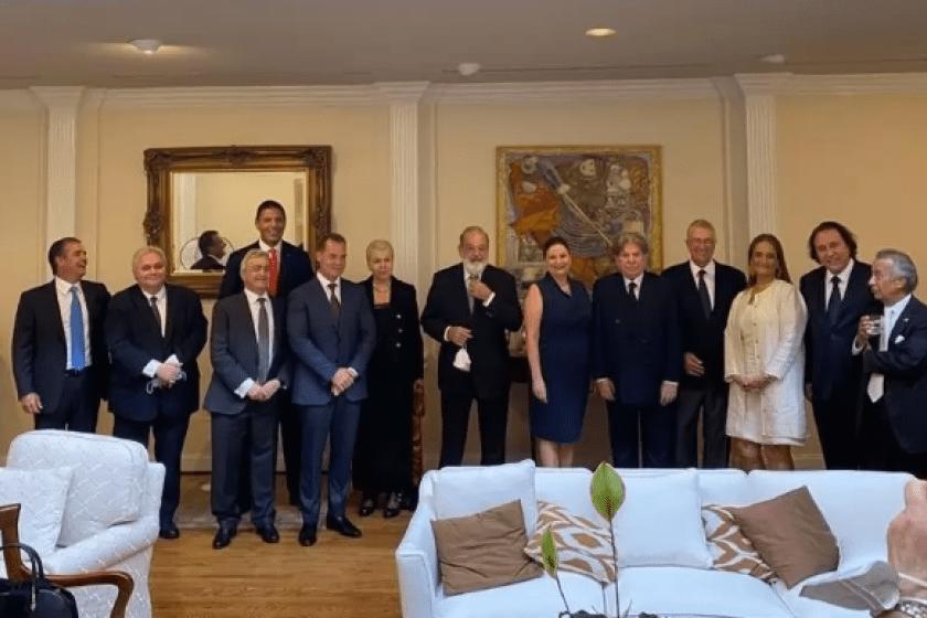 cena de AMLO con empresarios en Casa Blanca