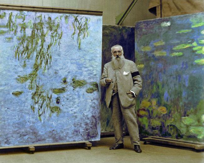 Claude Monet y nenufares