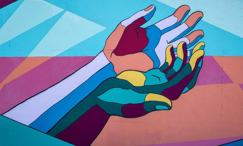pedir ayuda, manos, pandemia