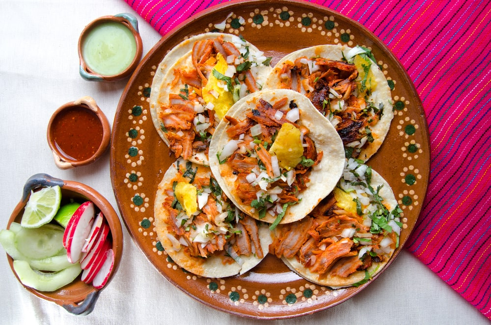 tacos al pastor, comida mexicana