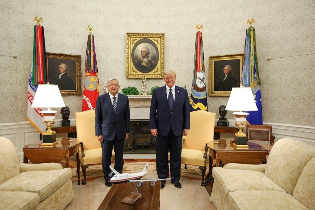 Se reúnen Donald Trump y AMLO en la Casa Blanca