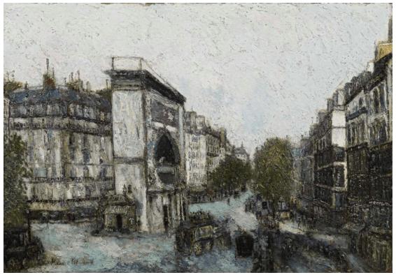 Maurice Utrillo, Porte Saint-Martin