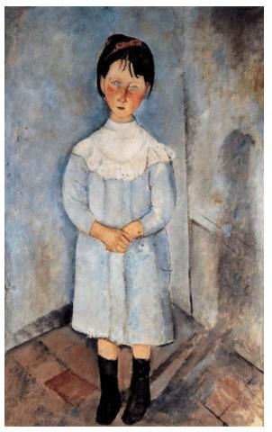 Modigliani, Niña vestida de azul