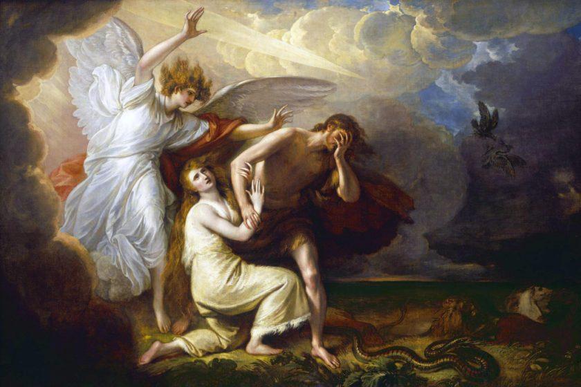 expulsión de Adán y Eva del paraíso