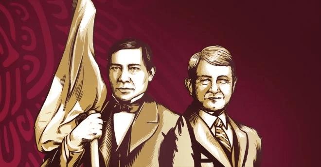 Benito Juárez y AMLO