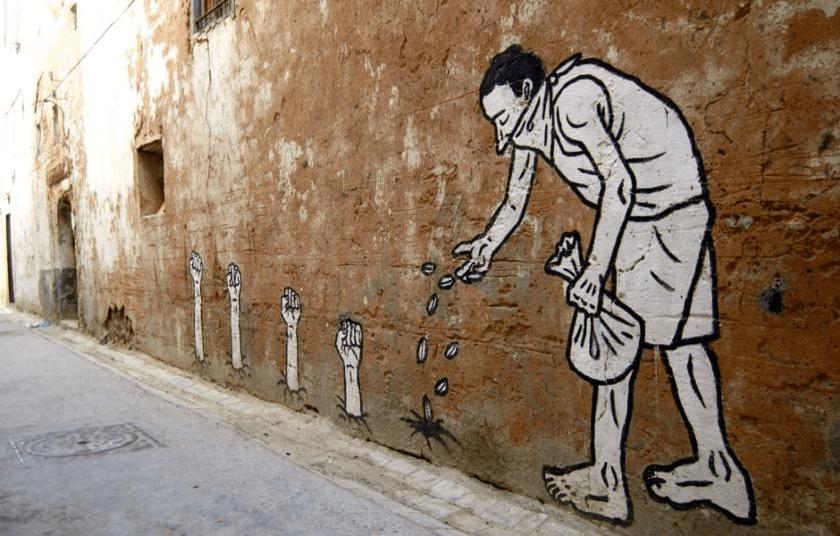 grafiti, sembrando odio