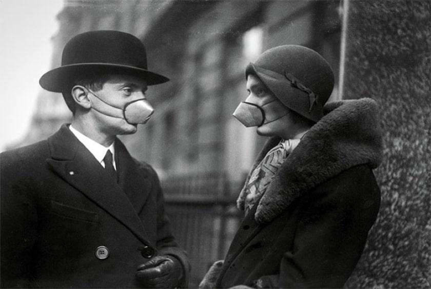 cubrebocas 1918, gripe española