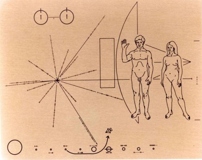 placa de sonda espacial pioneer