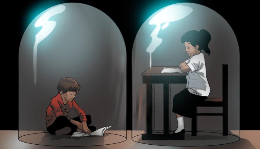 educacion, capsula de cristal, pandemia