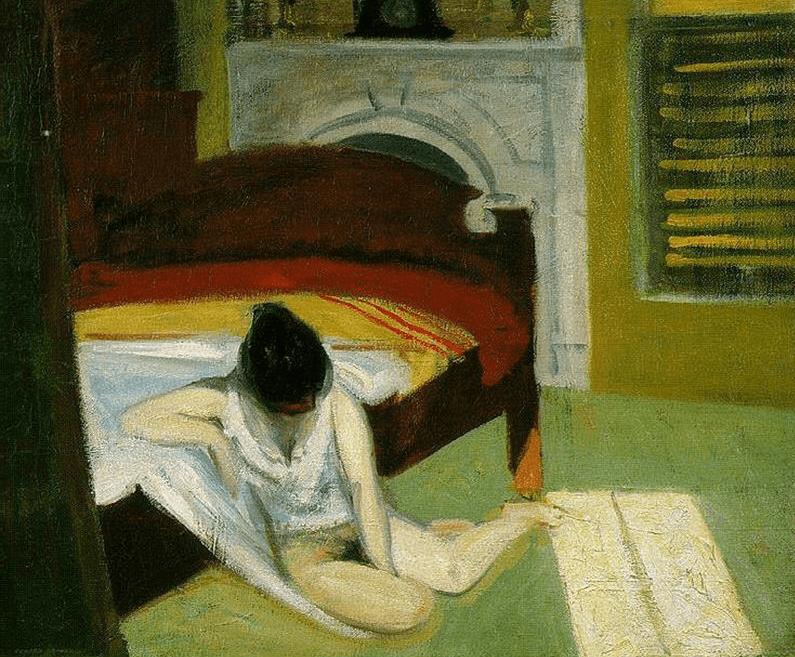 interior en verano, Edward Hopper