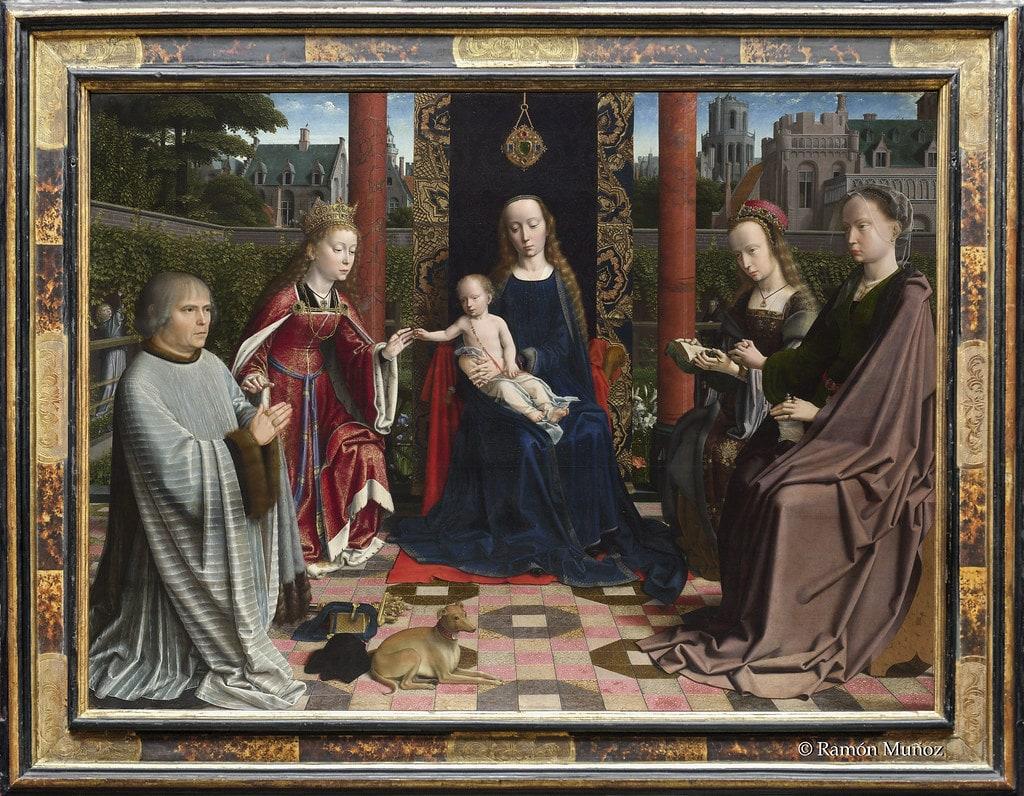 Gerard David, La Virgen y el Niño con santos y donantes