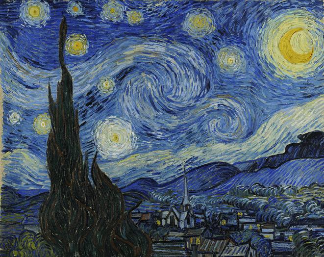 La noche estrellada, Vincent van Gogh,