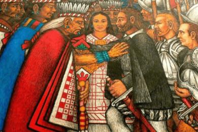 Malinche y Hernan Cortes