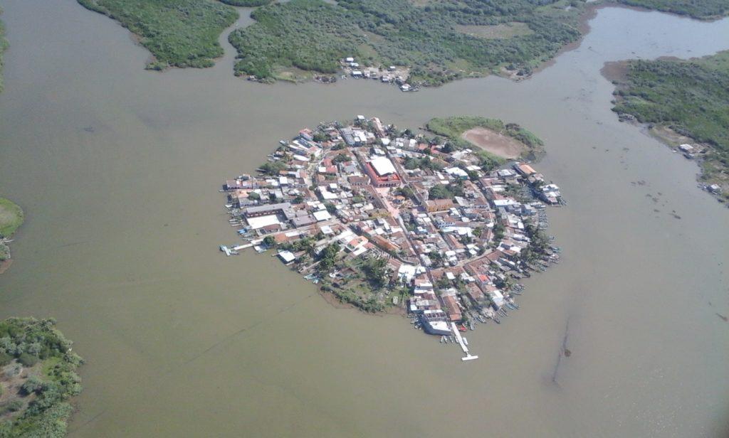Biósfera Marismas Nacionales en la Isla de Mexcaltitán