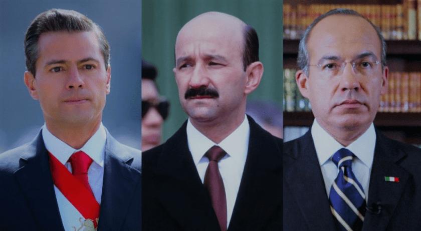 Salinas, Peña Nieto y Calderón