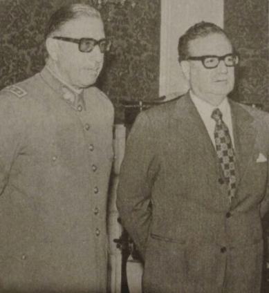 Salvador Allende y Augusto Pinochet.