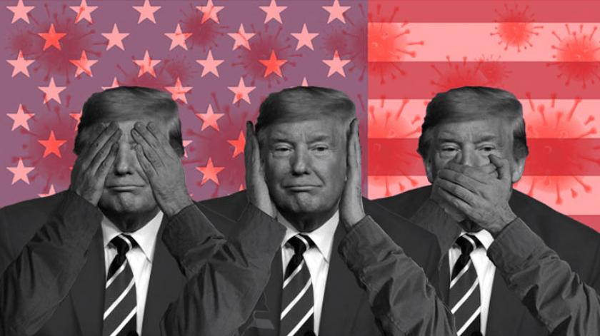 Trump y entorno covid-19