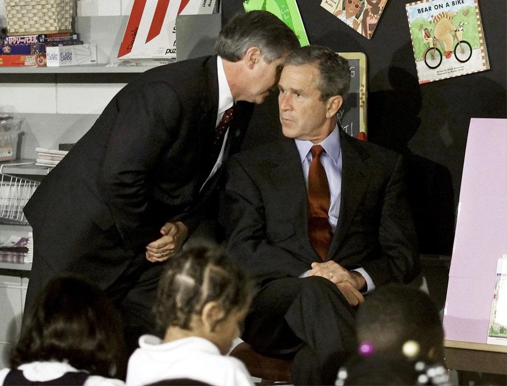 Andrew Card y George Bush