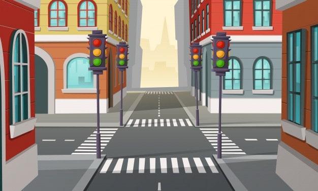 calles con semáforos