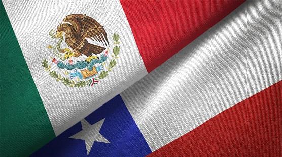 banderas Mexico y Chile
