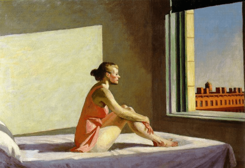 Sol de la mañana, Edward Hopper