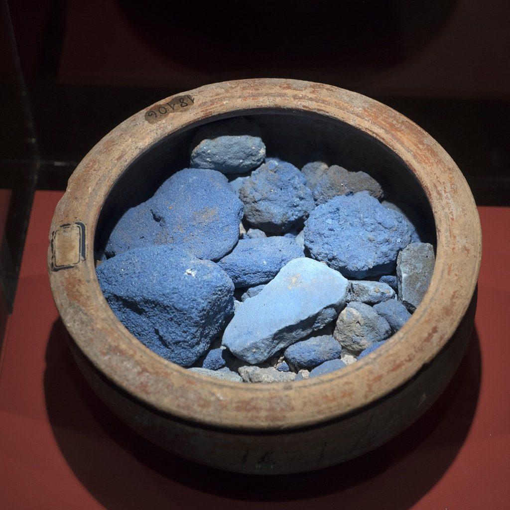 azul egipcio, pigmento