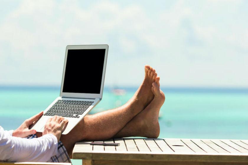 home office en la playa
