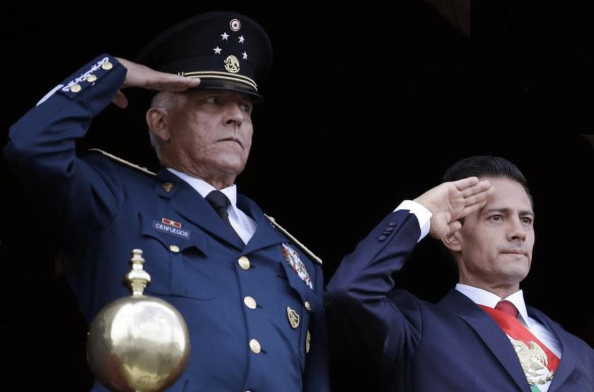 Salvador Cienfuegos Zepeda y Enrique Peña Nieto