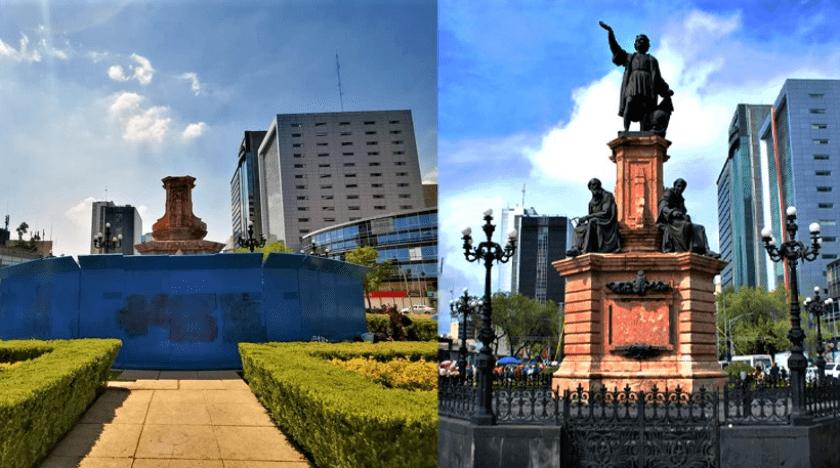 retiro estatua Cristobal Colon