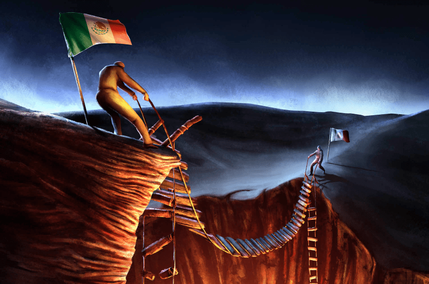 Mexico dividido, fraccionado