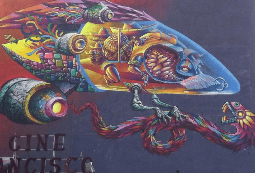 Mural-Grafitti en El Circo Volador