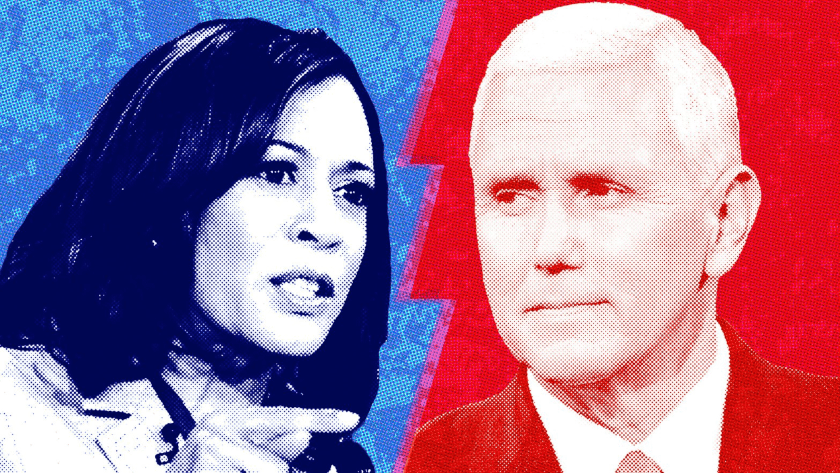 Pence y Harris, debate