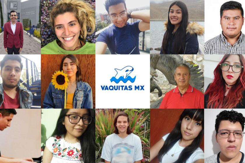 Universitarios por el rescate de la vaquita marina.