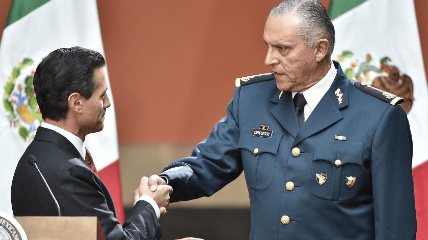 Enrique Peña Nieto y Salvador Cienfuegos