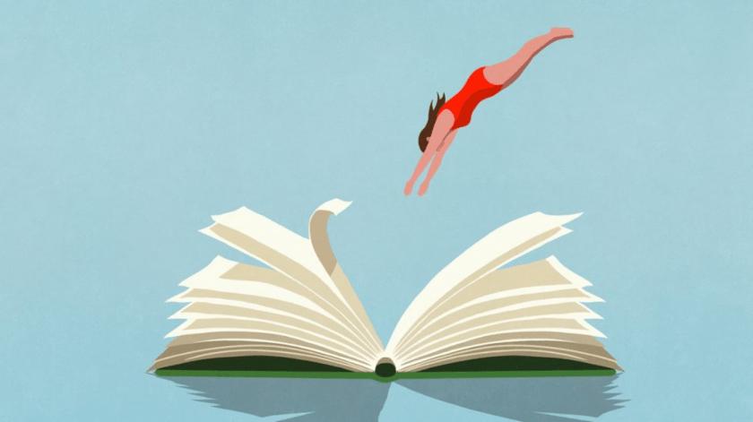 un clavado en los libros