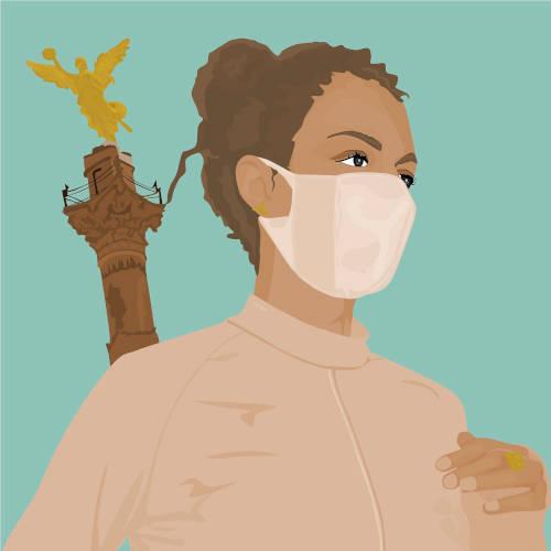 pandemia y cubrebocas