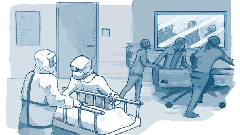 medicos, pandemia, enfermos