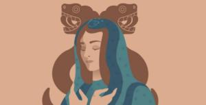 virgen de Guadalupe y Morena
