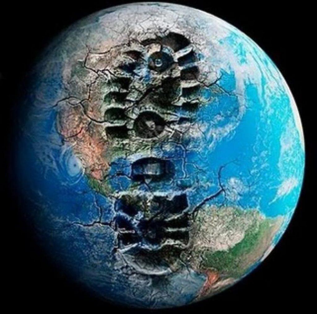 planeta en crisis, huella humana